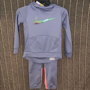 Girls Grey Nike Hoodie and Sweat Pants set